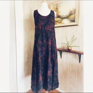 Burberry Prorsum Cashmere Floral Sleeveless Dress